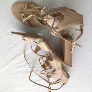 Ivanka Trump Kavita Lace-up High Heel Sandal